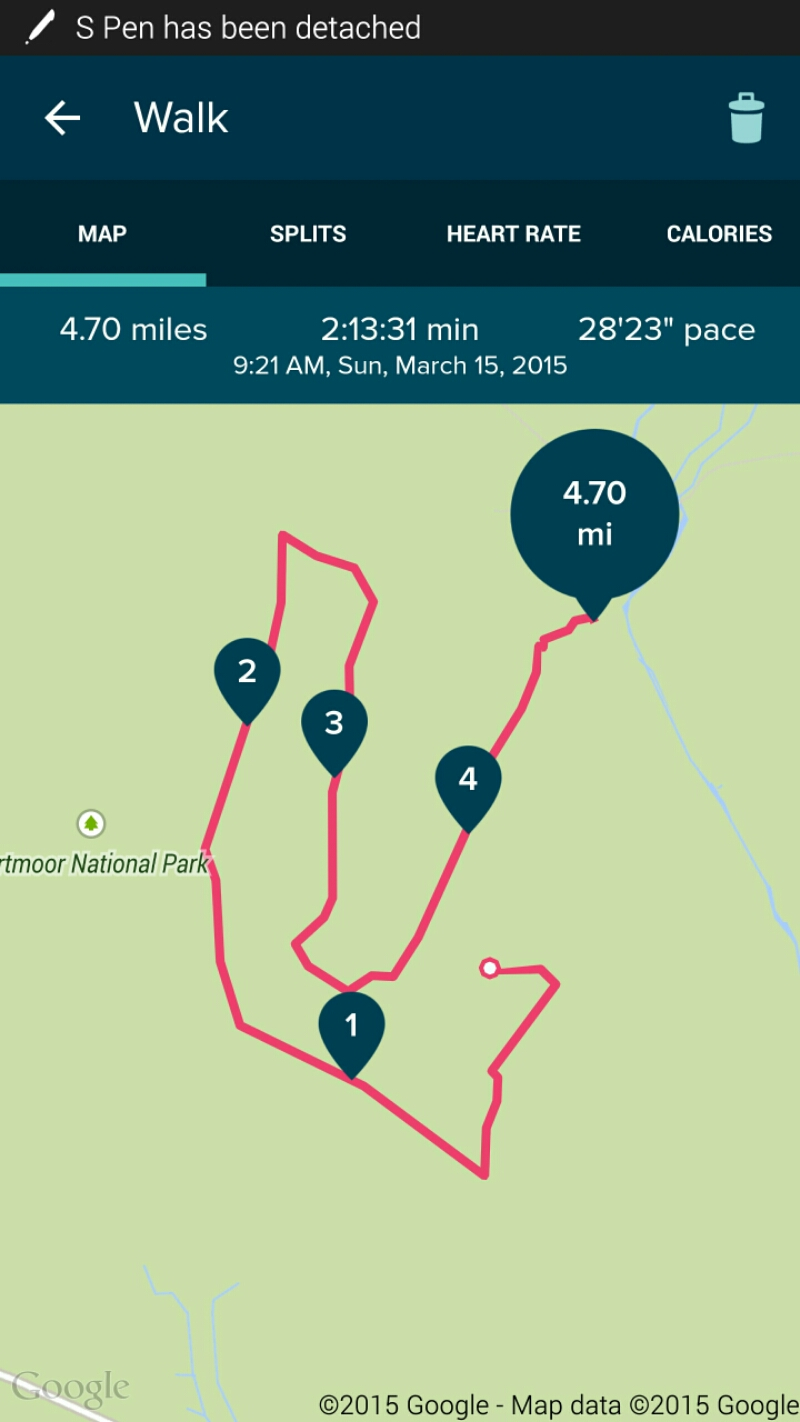 Technology working in Harmony – FitBit Charge HR, Viewranger