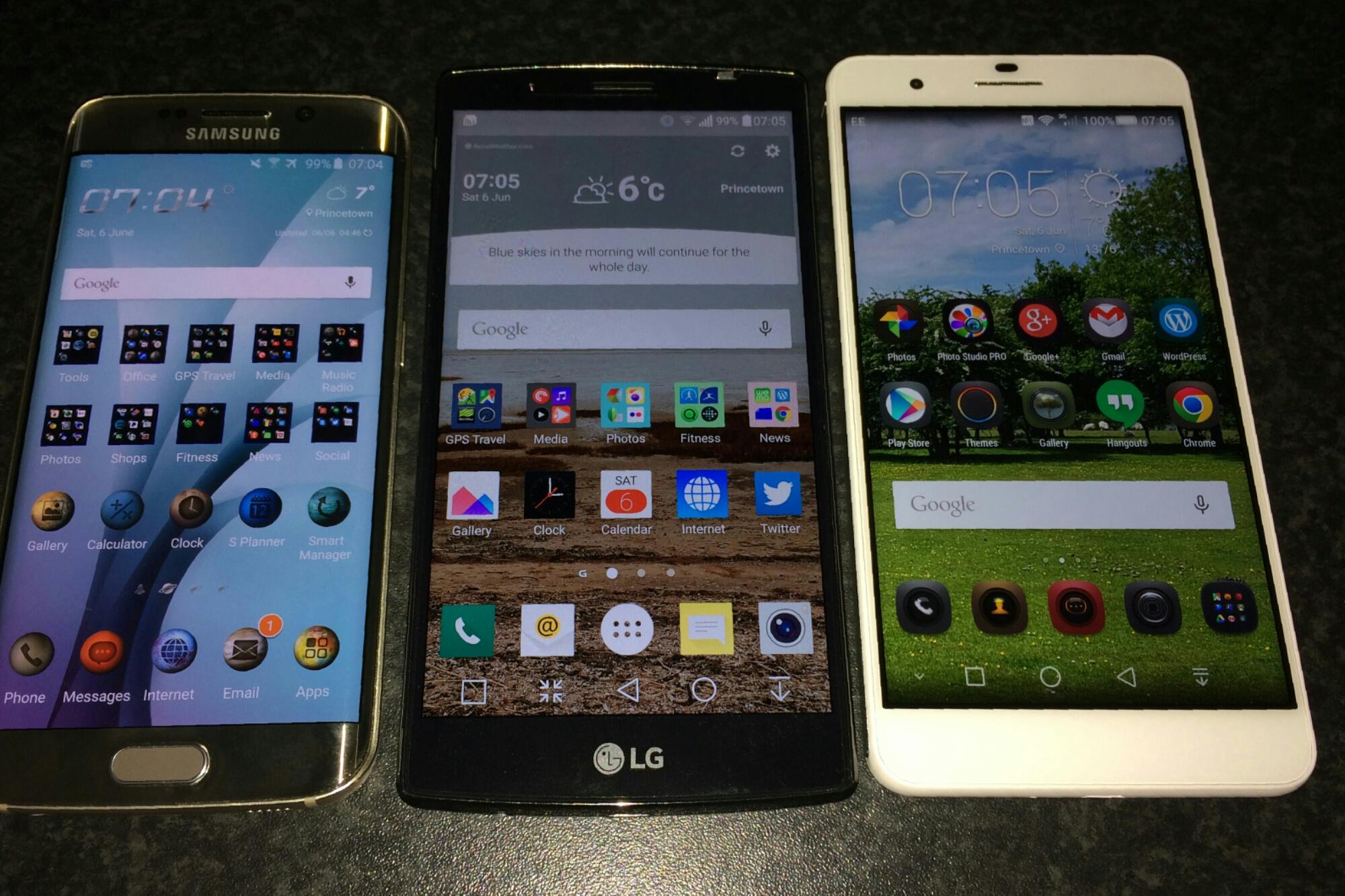 Screen Brightness/Size – LG G4 vs S6 Edge vs Honor 6+ | Gavin's ...