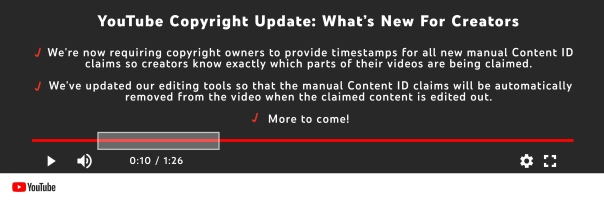 YouTube Copyright Claims – YouTube strikes back with new